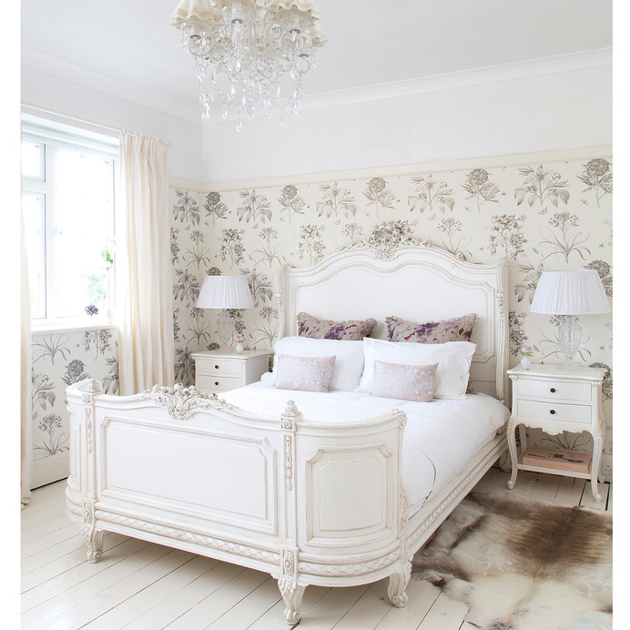 French bed - bonaparte provencal -The French Bedroom Company - www.homeworlddesign.com #bedroom #french #style