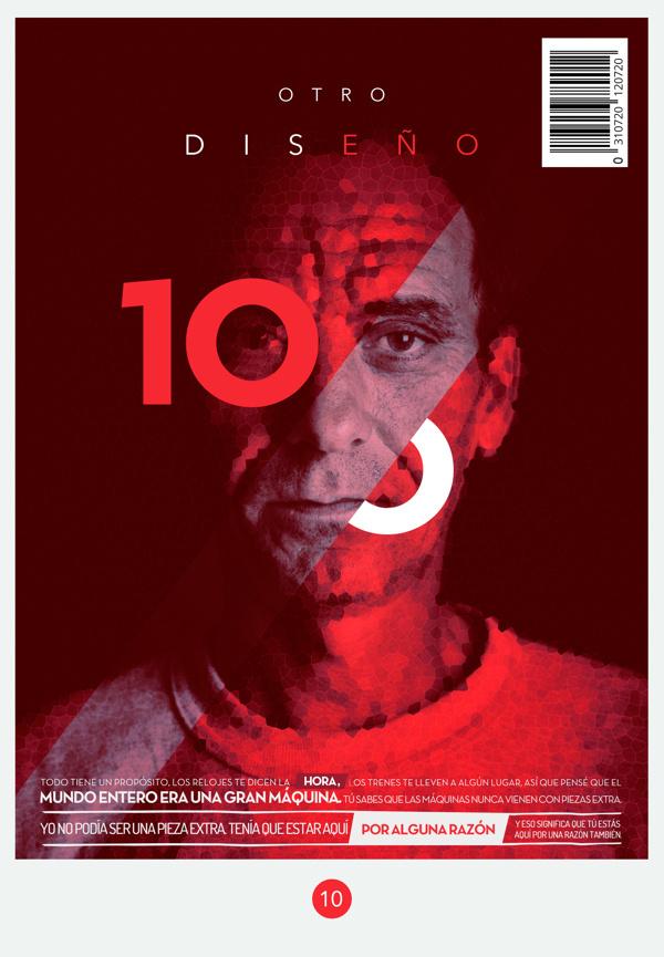 Artwork for OD Magazine #print #design #cover #od #portrait #magazine #typography
