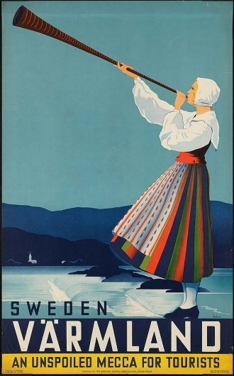 Swedish posters | CreativeRoots - Art and design inspiration from around the world #vrmland #vintage #poster #swedish