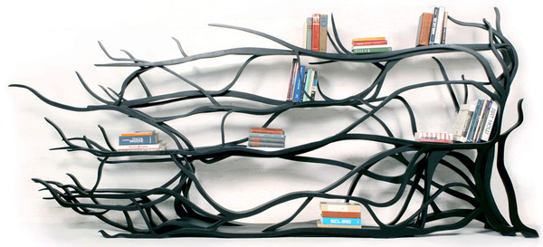 CJWHO ™ (sebastian errazuriz | metamorphosis chilean born,...) #crafts #design #books #wood #furniture #art #bookshelf