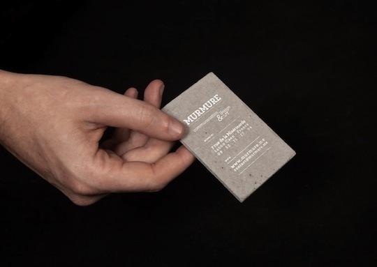 concrete business cards murmure 1 #card #concrete #business