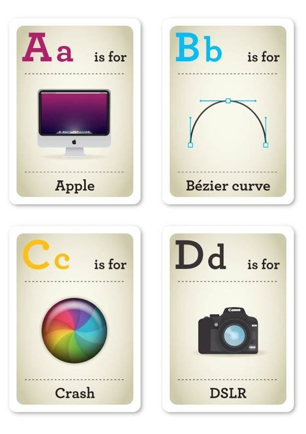 Design Nerds Flash Cards For Kids 5 #information #design #graphic #illustration #cards