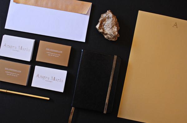 Gold on Behance #pantone #stationary #branding #gold
