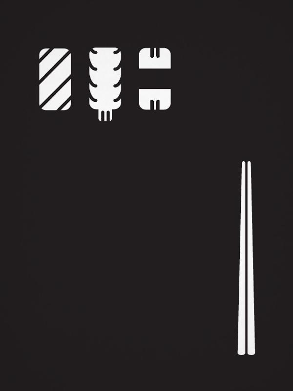 """""""Il lusso di essere semplici"""" Illustrazioni on Behance #drawings #white #design #graphic #book #black #& #sushi #editorial #illustration #japan"""