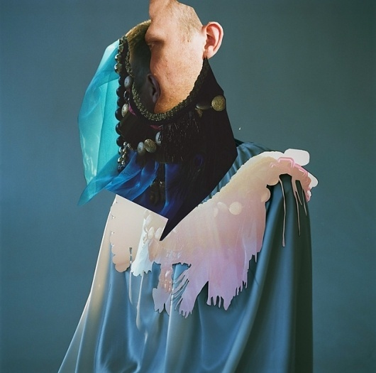 A FOREST #shirt #portrait #distorted #blue #dripping #collage