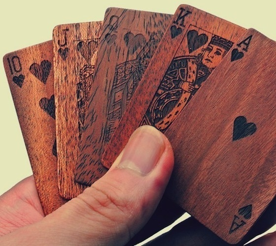 Wooden Deck Of Cards #cards