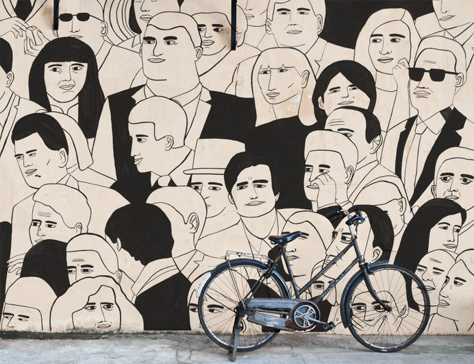 TODD BORKA | artnau #mural #wall painting #people #installation