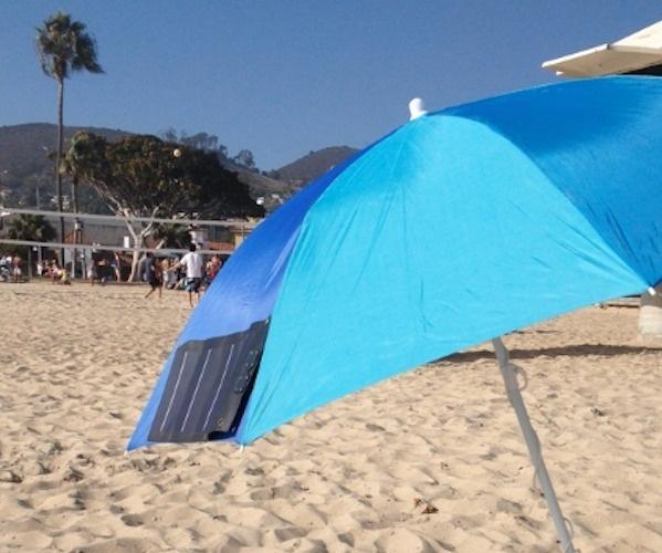 Clip-on Umbrella Solar Charger #charger #solar #gadget