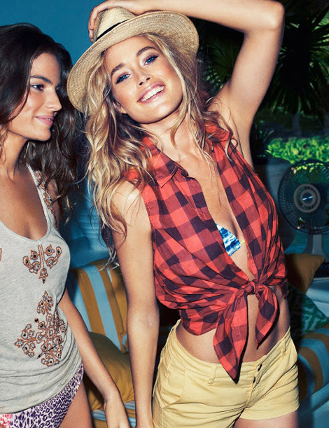 Cameron Russell & Doutzen Kroes - H&M Sensual Summer 2013 Campaign #model #girl #look #photography #fashion #style