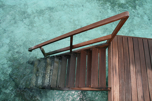 HIGH ROAD.LOW ROAD #stairs #sea #water