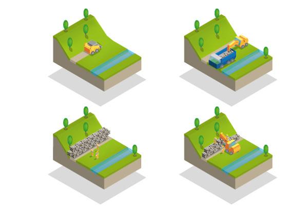 Qubastones on Behance #illustration #isometric