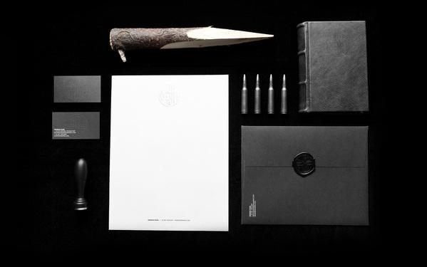 Nemesis Films #white #anagrama #mexico #stationery #presentation #black #monogram #and #wax