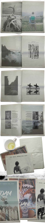 Foam | Surf Magazine on Behance #magazine