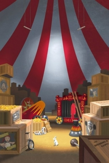 The Art of Steve Thomas « These Old Colors™ #steve #design #circus #thomas