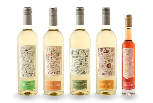 Small Talk VineyardThe Dieline #packaging #illustration #type #vineyard #typography