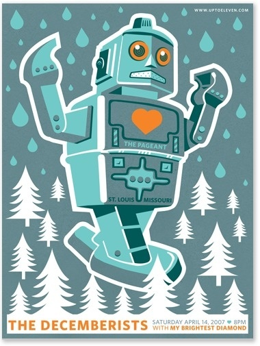 The Decemberist - posters - work - tad carpenter #robot