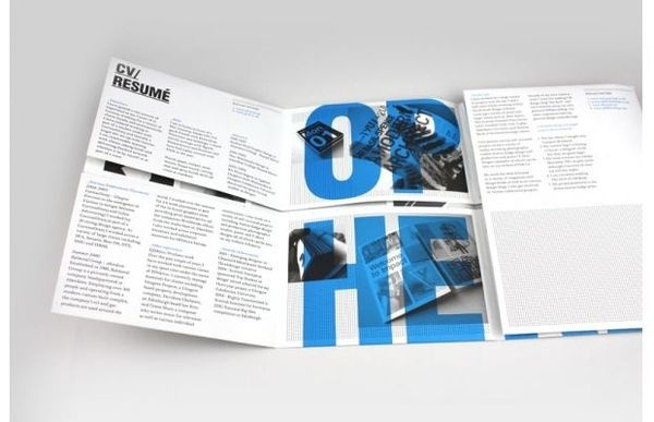 The Mailer Rxc3xa9sumxc3xa9 #layout #portfolio #typography