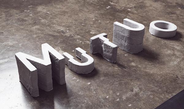 Mutuo | Manifiesto Futura #lettering #concrete #3d #typography