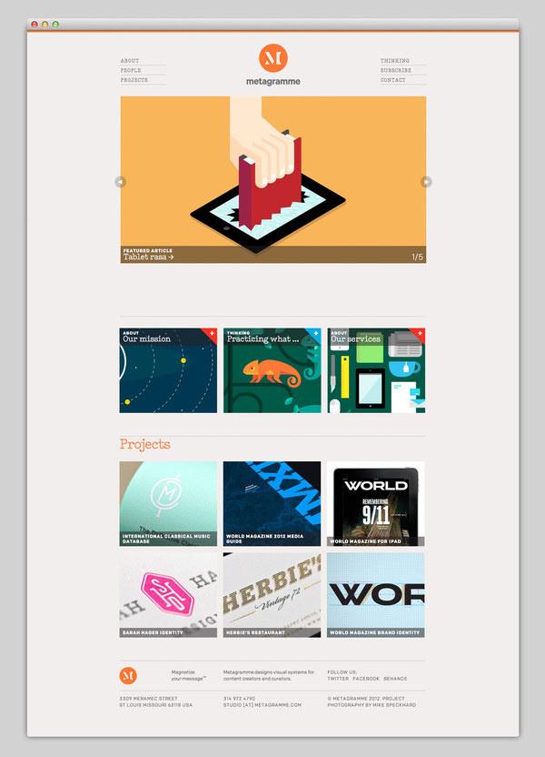 Metagramme #website #layout #design #web