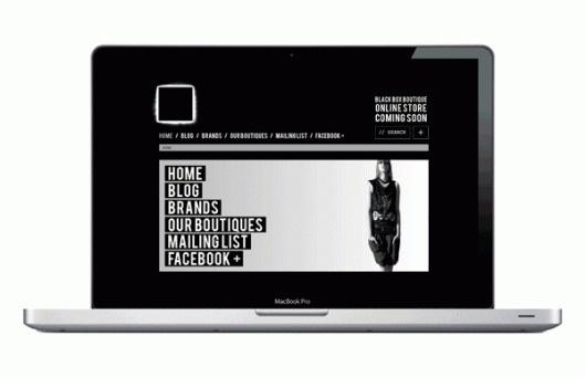 BLACK BOX / WHITE BOX on the Behance Network #modern #black #box #website #minimal #fashion #dark