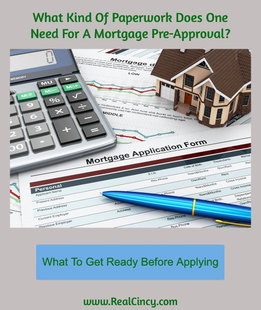 what kind of paperwork do you need for a mortgage pre-approval?