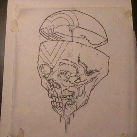 @erikjonesart   Just finished the clean line. So pumped to tattoo this tonight! Get ready John   Webstagram - the best Instagram viewer #skull #illustation