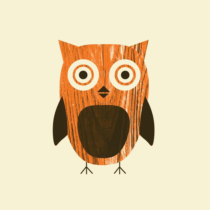 ForestOwl.jpg #wood #illustration #animal #texture