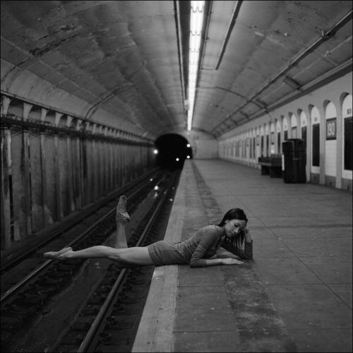 Ballerina Project #white #ballerina #ballet #black #subway #photography #and #york #new