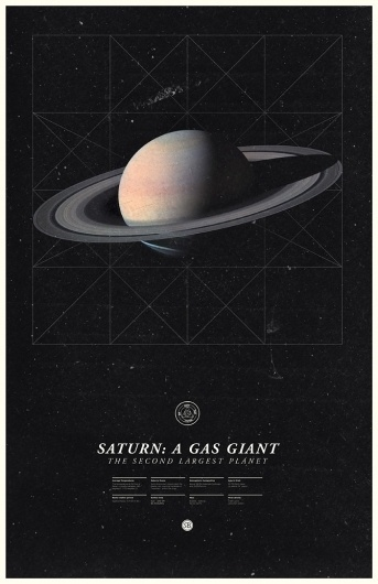 Saturn - Under the Milky Way - Ross Berens #saturn #space #posters #planets #typo #typography
