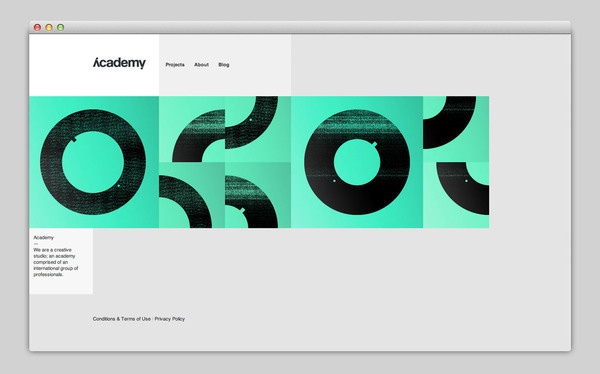 Academy #based #design #website #grid #layout #web