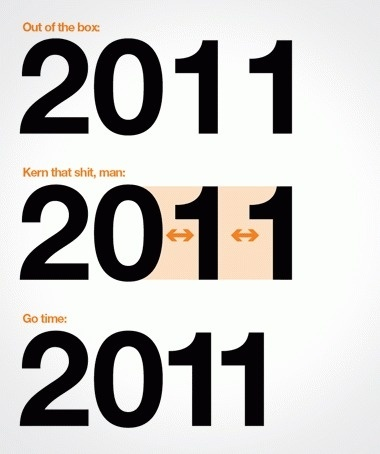Draplin Design Co. #2011 #darplin #type #helvetica #kern #typography