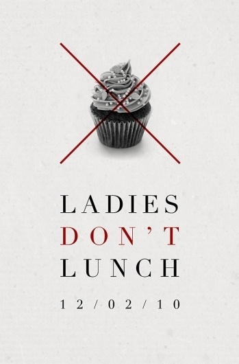 Daniel Gray - Blog - Ladies Don'tLunch #event #graphic #poster