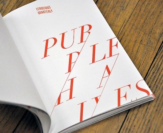Ferocious Quarterly No.2   Nate Utesch   NTHNL #typography