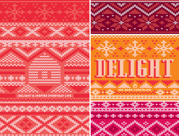 WilloSweets: The Chocolate Edition on Behance #pattern #holiday #stitch #knit