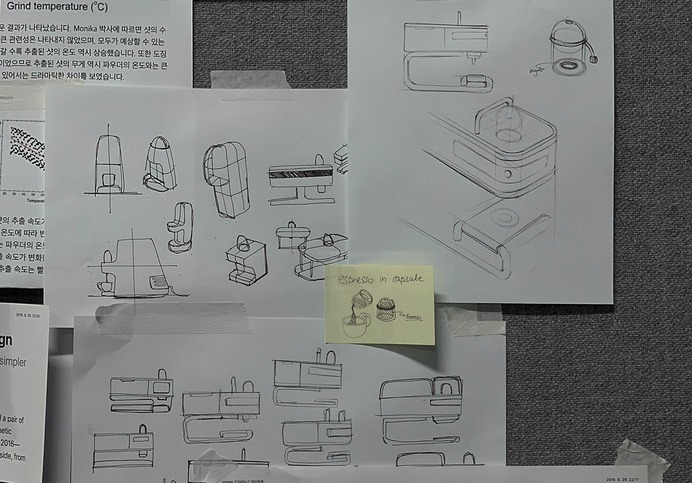 Minimal design Espresso machine -sketch