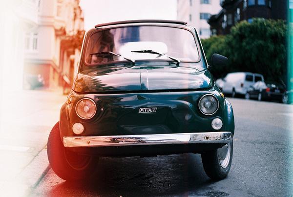 35mm Photography Brett Newman #fiat #burn #color #vintage #film #yashica #car