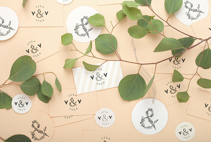 Vega & Vega by Menta . #mark #nature #flowers #stationary #print #graphic #design