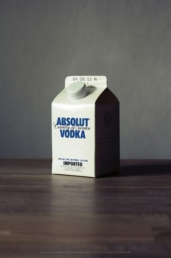 Alcohol Milk Packaging | Fubiz™ #packaging #alcohol #vodka
