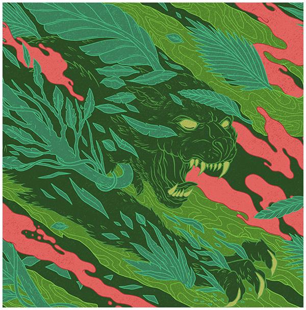 Smirnoff on Behance #pattern #smirnoff #& #snake #panther