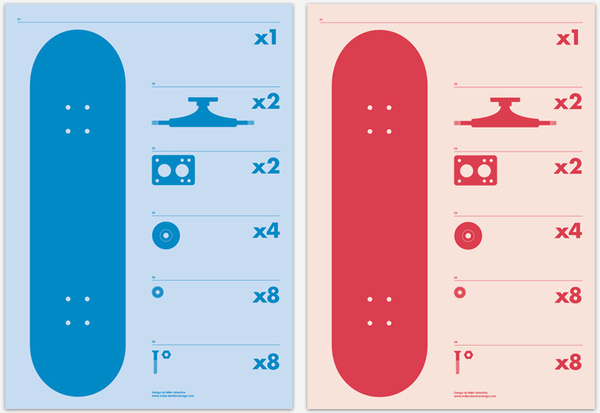 Mike Valentine Design #print #anatomy #skate #poster #skateboard