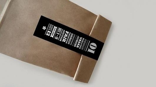 Ajándék Terminal Christmas identity / 2011 on the Behance Network #packaging #black #typography