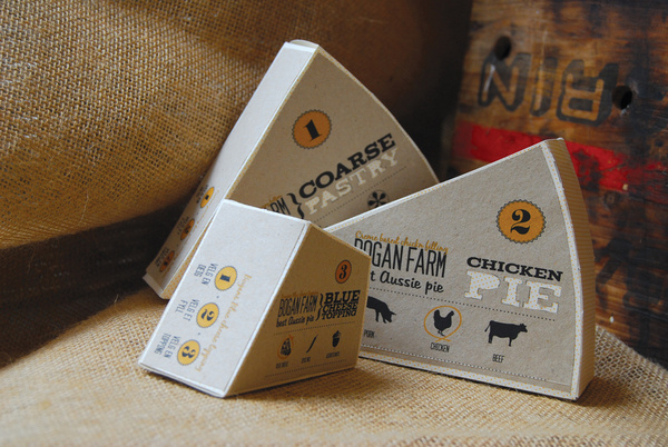 Bogan Farm Best Aussie Pie (Student Project) on Packaging of the World Creative Package Design Gallery #packaging #burnetts