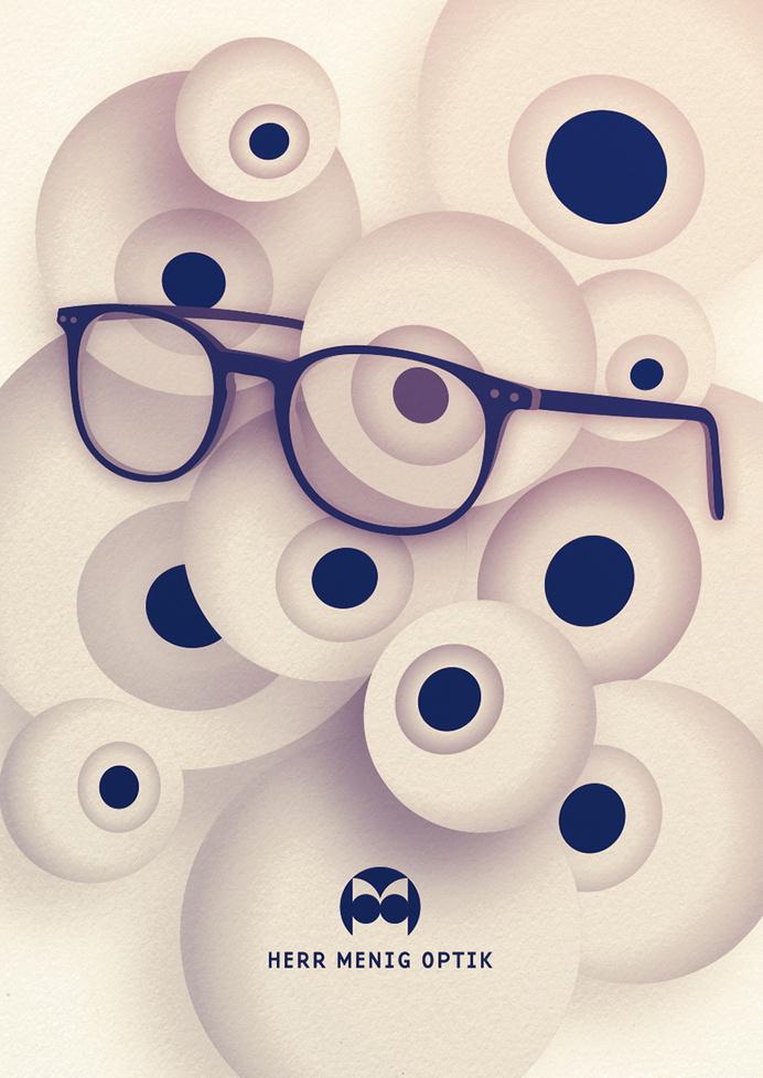 Ad illustration for Herr Menig Optik, an optician in Nürnberg Germany - www.philippzm.com #glasses #illustration #optician #ad
