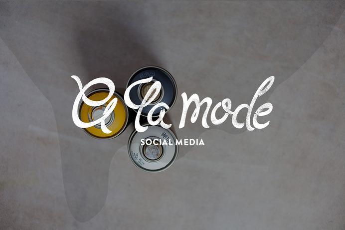A LA MODE: SOCIAL MEDIA #typography