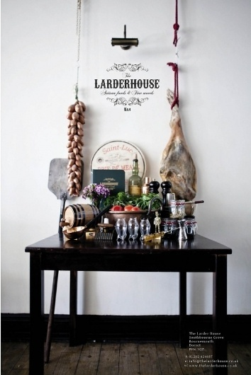 The Larderhouse - Lauren Davidson #food #restaurant #meat #bar #poster #advert