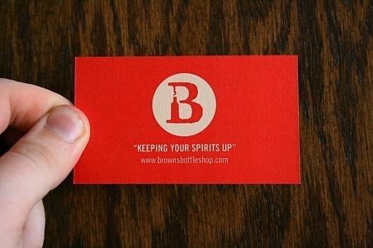 Brown's Bottle Shop Branding on Branding Served #business #logo #card #branding