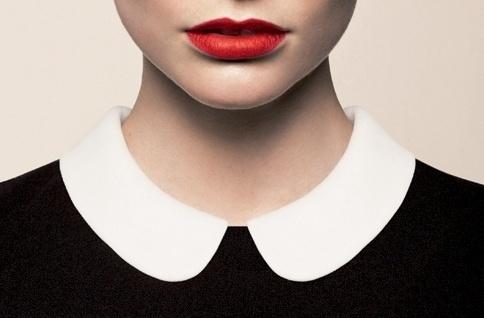 Sara Lindholm - pussycatlounge: Proper Noun ~Alexa #fashion #collar #lipstick