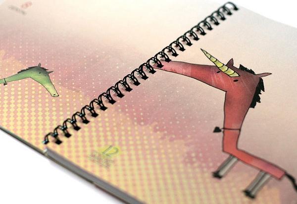 www.prinzapfel.com #doodle #wochen #2013 #calendar #prinz #planer #kalender #illustration #diary #apfel #taschenkalender