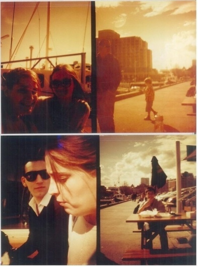 Don't look at me, i'm only breathing.. S|11|12 #sun #negative #city #redscale #diana #waterfront
