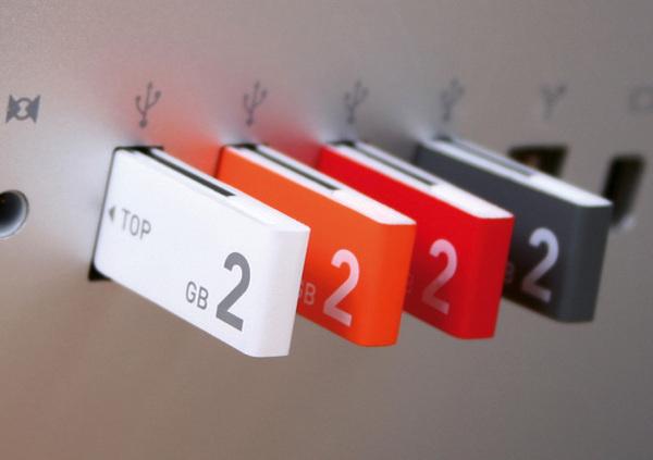 USB Clip #usb #design #color #product #industrial #minimal